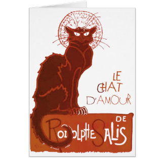 Le Chat D'Amour (v) Card