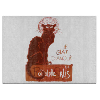 Le Chat D'Amour (v) Cutting Board