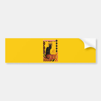 Le Chat D'Amour With Ethnic Coloured Border Bumper Sticker