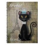 Le Chat, La Reine el gato la reina Libretas Espirales