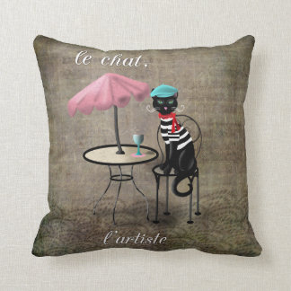 Le Chat, La Reine, L'artiste Throw Pillow