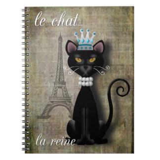 Le Chat, La Reine The Cat The Queen Notebook