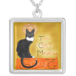 Le chat magnifique square pendant necklace