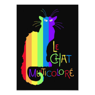Le Chat Multicoloré Card
