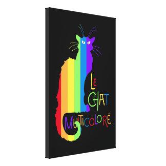 Le Chat Multicoloré Lienzo Envuelto Para Galerias