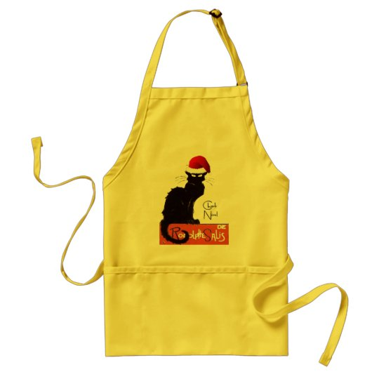 Le Chat Noel Adult Apron