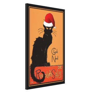 Le Chat Noel Canvas Print