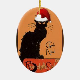 Le Chat Noel Ceramic Ornament