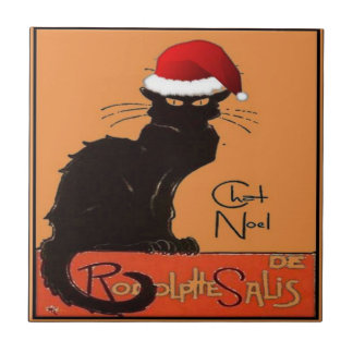 Le Chat Noel Ceramic Tile