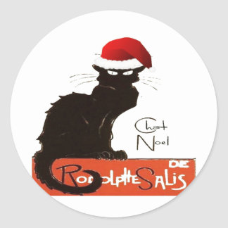 Le Chat Noel Classic Round Sticker