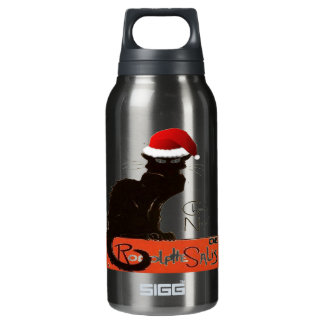 Le Chat Noel Insulated Water Bottle