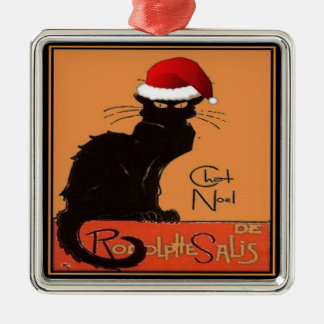 Le Chat Noel Metal Ornament