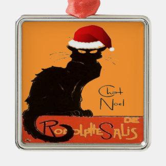 Le Chat Noel Metal Ornament