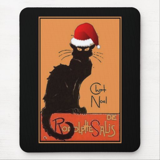 Le Chat Noel Mouse Pad