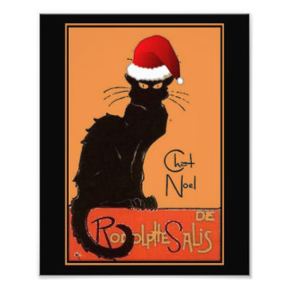 Le Chat Noel Photo Print