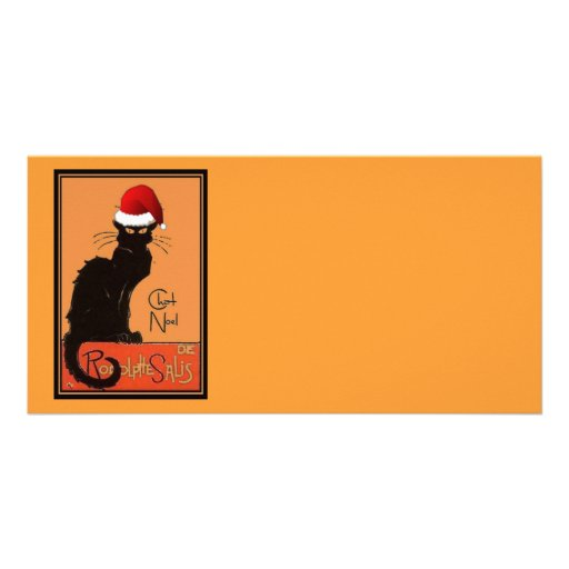 Le Chat Noel Photo Card Template