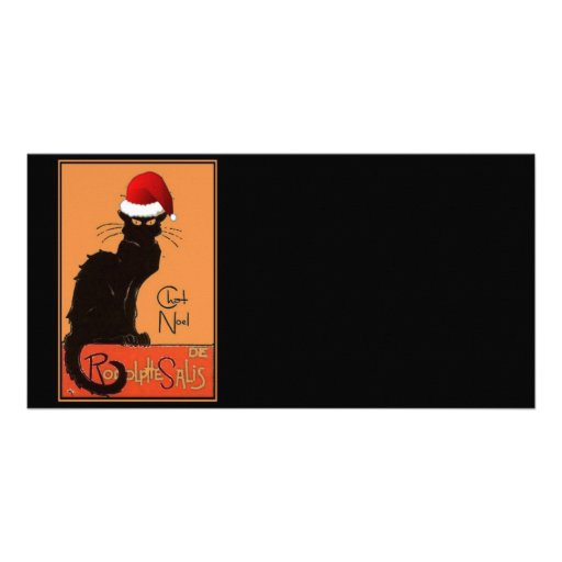 Le Chat Noel Customized Photo Card
