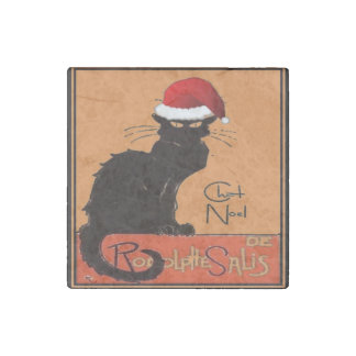 Le Chat Noel Stone Magnet