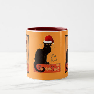 Le Chat Noel Two-Tone Coffee Mug