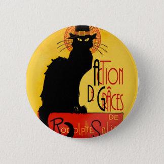 Le Chat Noir - Action De Grâces Button