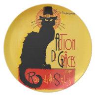 Le Chat Noir - Action De Grâces Dinner Plate