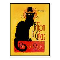 Le Chat Noir - Action De Grâces Postcard