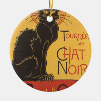 Le Chat Noir Art Print Ceramic Ornament