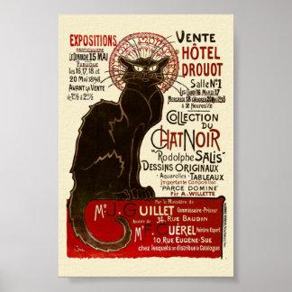 Le Chat Noir, bella arte de Vente Hôtel Drouot Póster