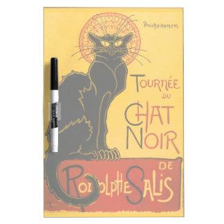 Le Chat Noir Black Cat Art Nouveau Vintage Cabaret Dry Erase Board