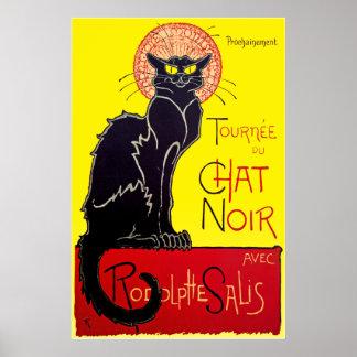 Le Chat Noir Black Cat Vintage Poster Print