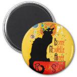 Le Chat Noir - Bonne Nouvelle Année 2 Inch Round Magnet