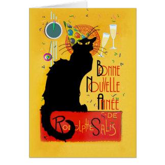 Le Chat Noir - Bonne Nouvelle Année Card