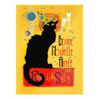 Le Chat Noir - Bonne Nouvelle Année Personalized Invitation