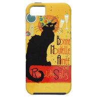 Le Chat Noir - Bonne Nouvelle Année iPhone 5 Cases
