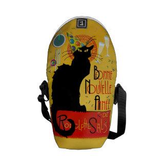 Le Chat Noir - Bonne Nouvelle Année Messenger Bag