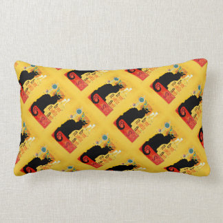 Le Chat Noir - Bonne Nouvelle Année Throw Pillows