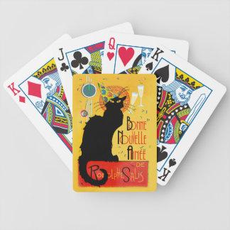Le Chat Noir - Bonne Nouvelle Année Poker Deck