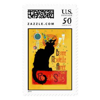 Le Chat Noir - Bonne Nouvelle Année Postage