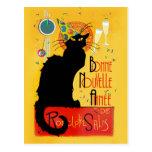 Le Chat Noir - Bonne Nouvelle Année Postcard