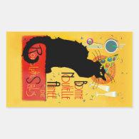 Le Chat Noir - Bonne Nouvelle Année Rectangular Sticker