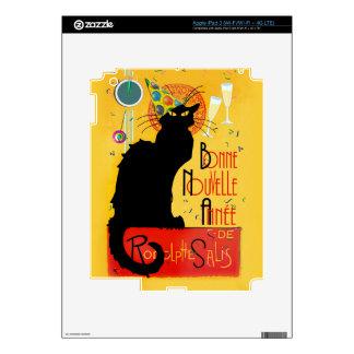 Le Chat Noir - Bonne Nouvelle Année Decal For iPad 3