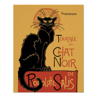 Le Chat Noir by Steinlen Print