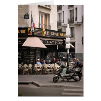 Le Chat Noir Cafe Card