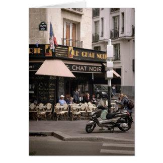 Le Chat Noir Cafe Card