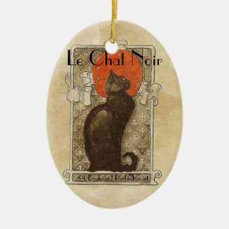 Le Chat Noir Ceramic Ornament