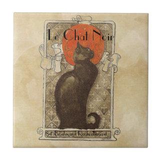 Le Chat Noir Ceramic Tile