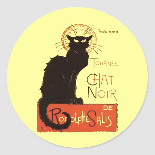 Le Chat Noir Classic Round Sticker
