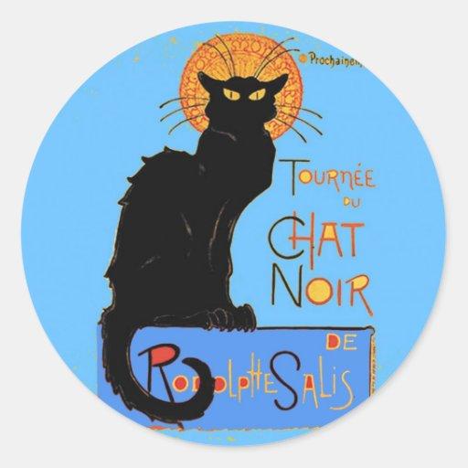 Le Chat Noir Classic Round Sticker