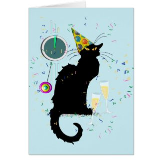 Le Chat Noir Countdown to the New Year Card