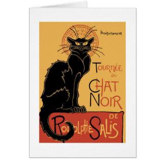 Le Chat Noir de Théophile Steinlen Tarjeta Pequeña